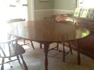 Dining room table chairs and buffet