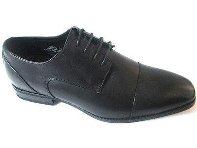 Petter Prestige Pu-Leather Dress Men's Shoes Black London Cap-Toe Italian Design Black Italian Design Dress Shoes