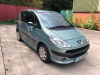 56 REG PEUGEOT 1007 1.6 16v AUTOMATIC DOLCE-65,000 MILES- ELECTRIC SIDE DOORS