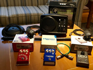 Mackie SRM150 PA System and TC Helicon Vocal Effects