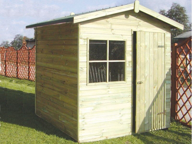 8x8 APEX GARDEN SHED 16 MM TANALISED