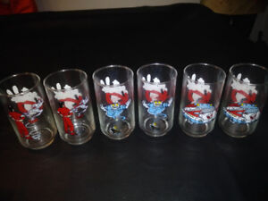 HALLOWEEN NINE VINTAGE GHOSTBUSTER'S DRINKING GLASSES