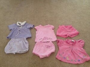 Lot of 10 girl's clothes size 6-9 months, Spring/Summer