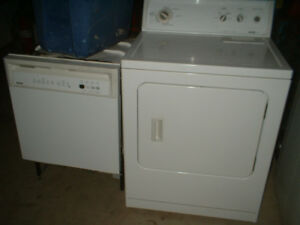 Kenmore dishwasher and dryer for sale