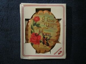I Love You Mom Wooden Plaque