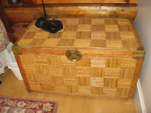 Antique bamboo trunk