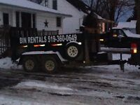Delivery services dump trailer