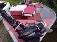 16.5 foot Lund fishing boat with trailer