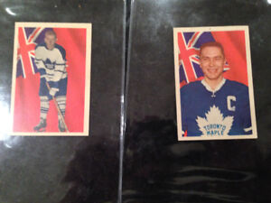 1963-4 PARKHURST NHL CARDS GEORGE ARMSTRONG #13 DAVE KEON #75