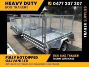 Trailers for Sale: 8x5 Galvanised Box Trailer 600 with Cage Noble Park North Greater Dandenong Preview