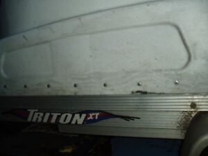 trition trailr eclosed  single[   sorry trailer needs a wash]