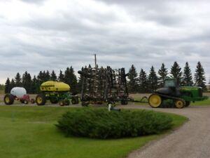 Seedmaster 7514 with airseeder and liquid fertilizer tanks