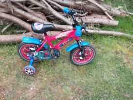 Spider-Man bike with stabilizers