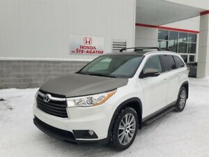 Toyota Highlander AWD  XLE * Cuir, GPS, 7 passagers.. 2016