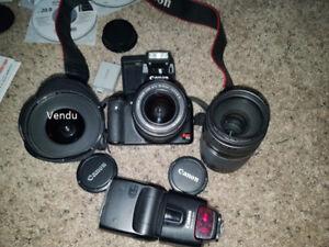 Lentille et Flash Canon 250$