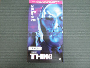 *** THINNER *** DE STEPHEN KING *** VHS ANGLAIS