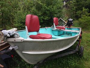 12 ft Aluminium Boat ,Motor, Trailer