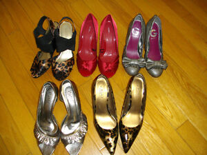 Variety of Shoes for sale - Prices and sizes included in the ad.