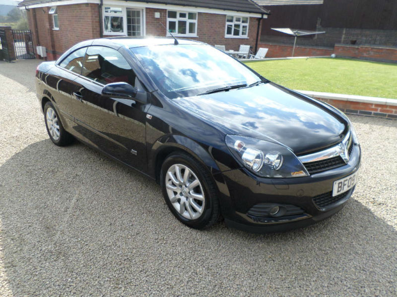 2009 vauxhall opel astra 16v coupe twin top sport convertible black in tamworth. Black Bedroom Furniture Sets. Home Design Ideas