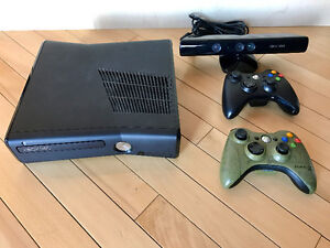 Xbox 360 Console 250gb hard drive + games