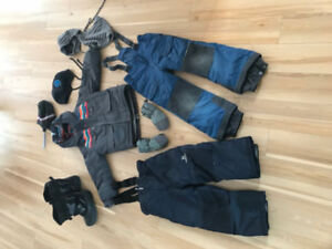 habit d'hiver 5 ans avec accessoires et bottes