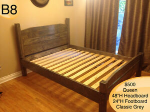 SOLID WOOD QUEEN BED W/ HEADBOARD, FOOTBOARD, RAILS AND SLATS Kingston Kingston Area image 5