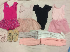size 4-6 ballet,jazz,tap suits