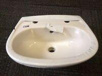 Basin sink bathroom toilet utility New white