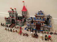 Two Kingdoms Lego Castles and 24 figurines