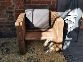 Rustic reclaimed made to order chunky garden furniture
