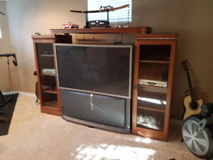"Sony 50"" TV and fantastic cabinet"
