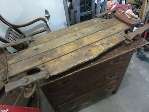 ANTIQUE WOODEN CAR CREEPER IN GOOD USABLE CONDITION asking $85 o