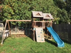 Cedar Swing Set & Play House