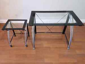 Desk (Set of 2) - With Tempered Glass Tops Kingston Kingston Area image 1
