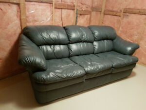 Teal Leather Sofa