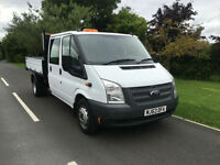 2013 63 FORD TRANSIT DOUBLE CAB 2.2TDCI 125BHP EURO 5 RWD 350 ONLY 45000 MILES