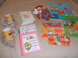 Disney-Winnie the Pooh stuff (books, mugs...)-REDUCED