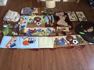 Baby jungle sports bedding set