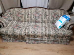 Sofa bed has mattress