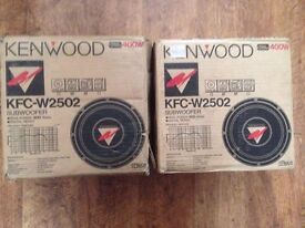 "2 X Kenwood 10"" Drive Units For Subwoofer (Boxed)"