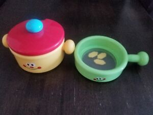 Pot and pan with lid, solid set, kids toys