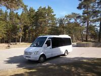 16 seater taxi/minibus + driver for hire