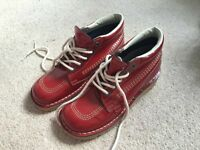 Red patent Kickers
