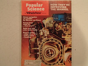 Vintage Popular Science Magazine September 1974  GC