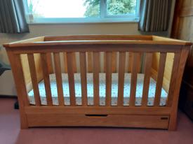 Mamas and Papas Ocean cot bed solid oak