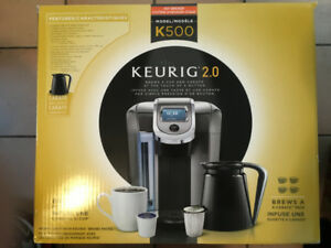 KEURIG K500 COFFEE MAKER SINGLE SERVE 2.0 BREWING SYSTEM