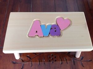 Personalized puzzle step stool West Island Greater Montréal image 1