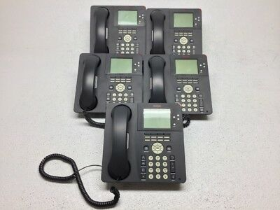 Lot Of 5 Avaya 9650 Digital Business Ip Voip Telephone W Handset Stand Cord