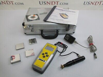 Phase 2 Met-u1a Ultrasonic Hardness Tester Ndt Flaw Rockwell Fischer Olympus