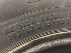 Winter tire 195/65 R15  8/32e mounted on rims
